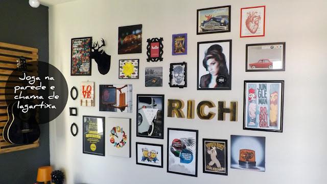 1 Organização de quadros na parede   Faça você mesmo