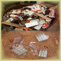 Descarte de medicamentos vencidos.