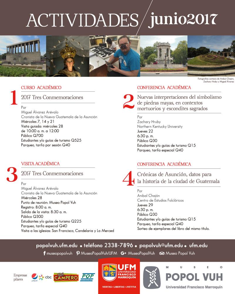 Actividades en junio Museo Popol Vuh