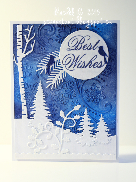 Handmade card. Winter. Impression Obsession, Darice