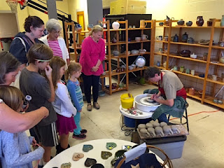 Pottery Throwing Demonstrations by Lori Buff of Future Relics Gallery