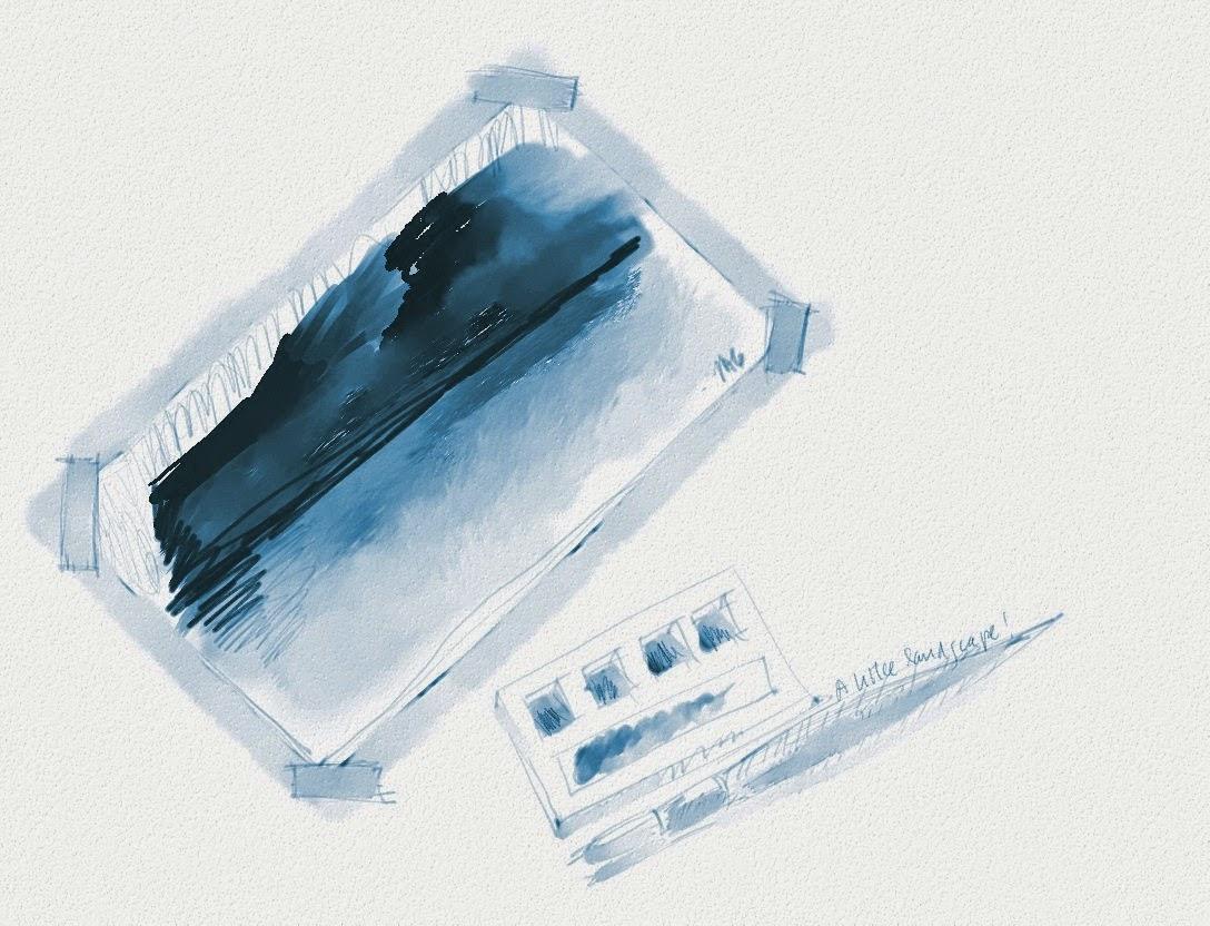 Exemplo de pintura úmida realizada no MyPaint com os pinceis default para este tipo de técnica.