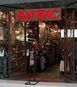This is an image of what the typical hot topic store looks like and also .