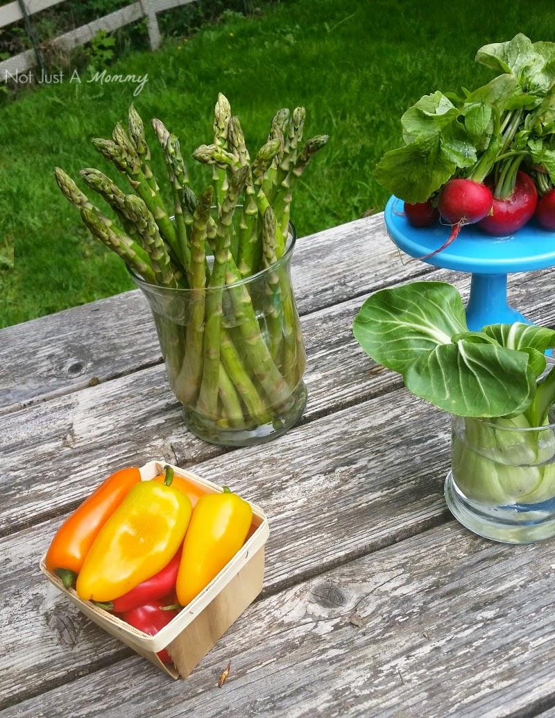 Farm To Table Inspired Tablescape asparagus