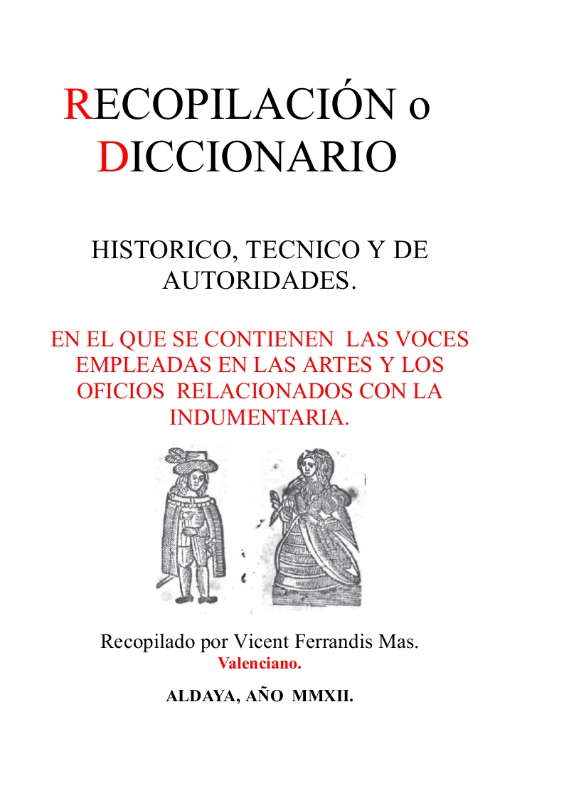 DICCIONARIO DE INDUMENTARIA