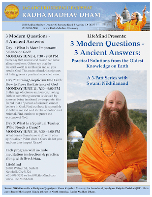 Jagadguru Shree Kripaluji Maharaj's disciple speaking in Newhall, California