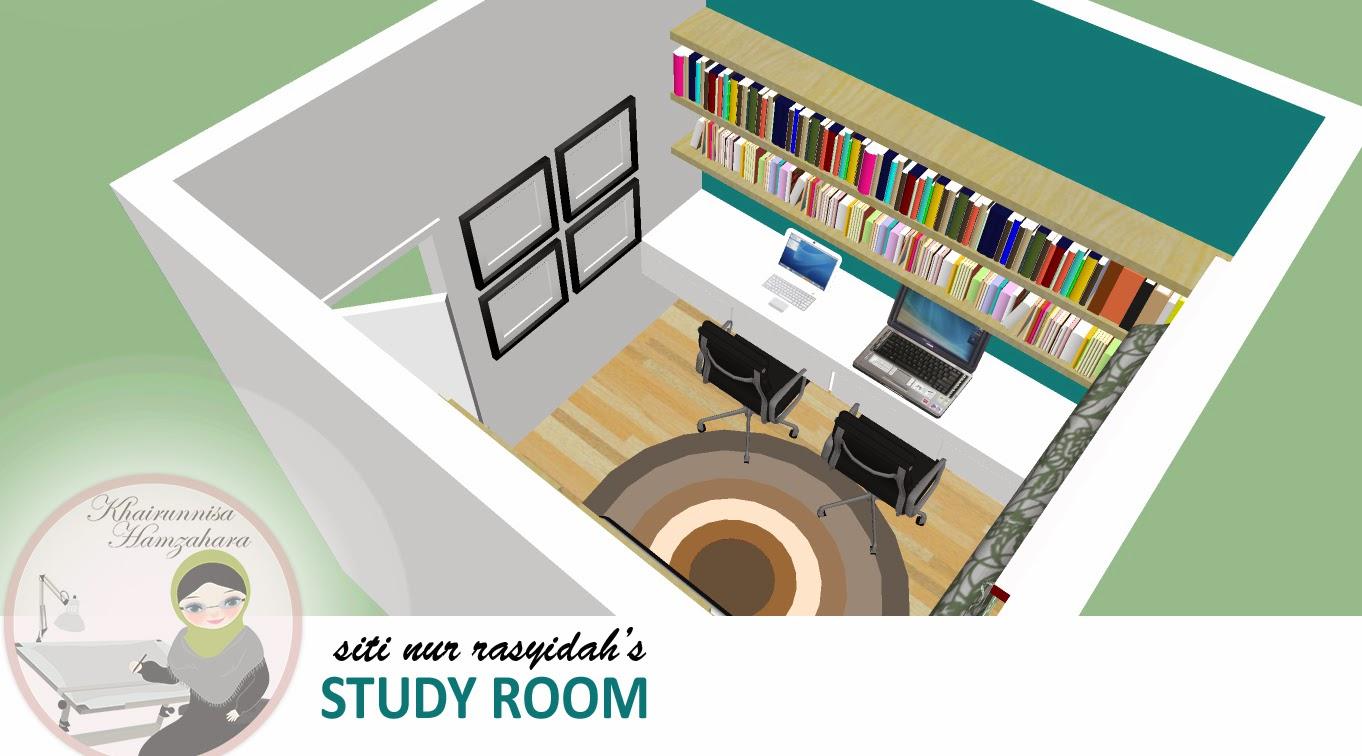 REKABENTUK 3D HIASAN DALAMAN BILIK STUDY