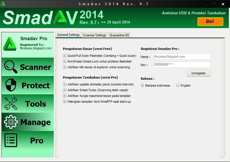 Download Smadav pro 2014 dengan nama sendiri