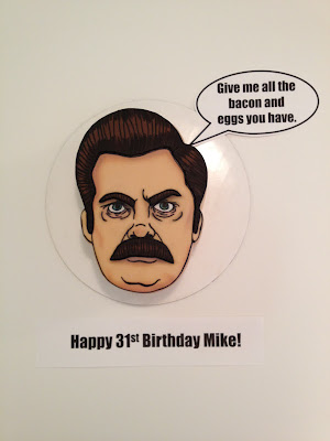 Eat Cake Be Merry Ron Swanson Cake Give Me All The Bacon