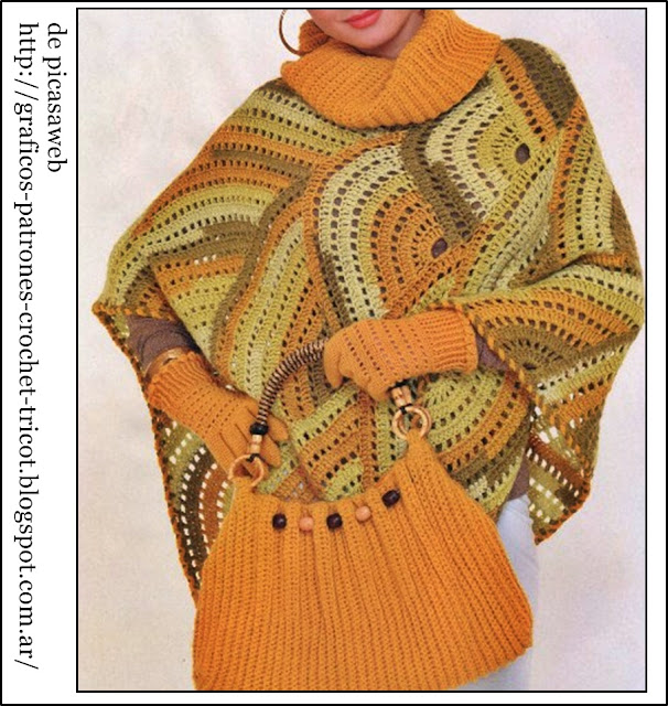 TEJIDOS A CROCHET - GANCHILLO - PATRONES: PONCHO crochet YOUR FIGURE