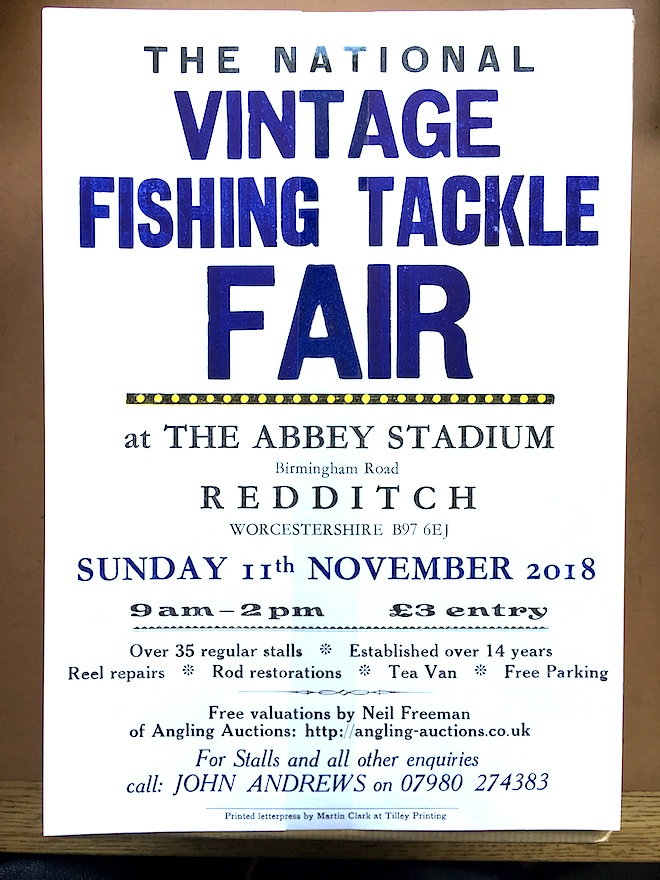 The Next National Vintage Fishing Tackle Fair