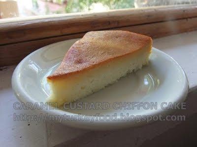 CARAMEL CUSTARD CHIFFON CAKE