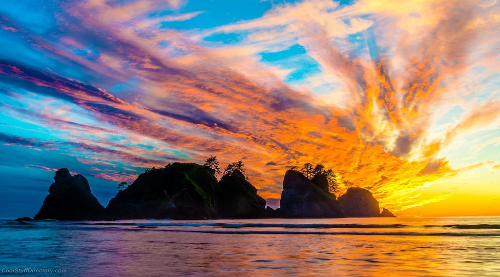 1. Olympic National Park - Shi Shi Beach at Sunset
