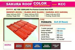 Jual Genteng Metal Sakura Roof Murah