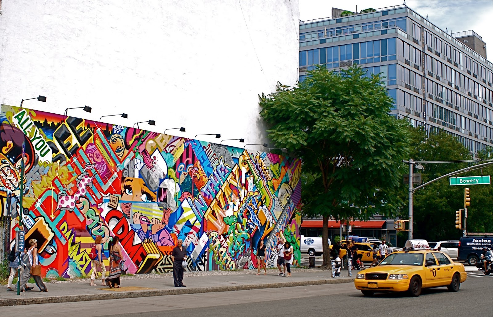 Nyc nyc revok and pose mural at bowery and houston for Bowery mural nyc