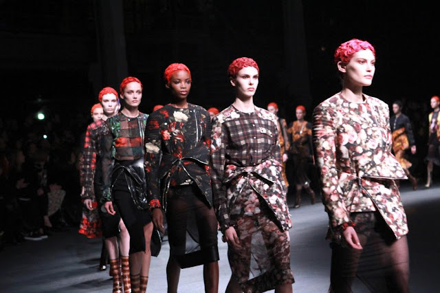 Givenchy Fall 2013, Riccardo Tisci, Plaid, Future Feminism, Floral, Prints, Hair, Paris Fashion Week, Runway
