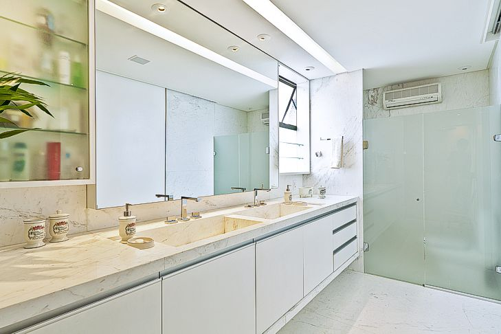 Banheiros com áreas íntimas (vaso e chuveiro) separadas! Veja modelos e dicas -> Cuba Para Banheiro Areia