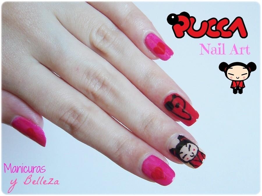 Manicuras y Belleza Reto BEE Pucca Nail Art La manicura ms cuca