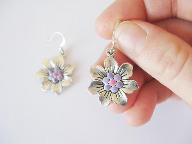 boucles argent fait main fleur bijoux