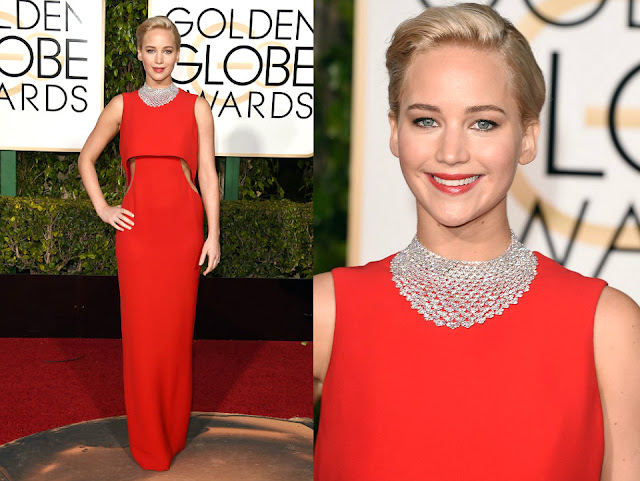Jennifer Lawrence in Dior Couture - Golden Globe Awards 2016
