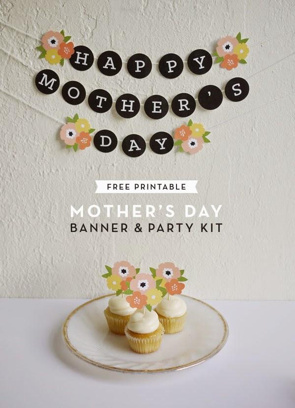 Guirnalda y decoración de tortas o cupcakes