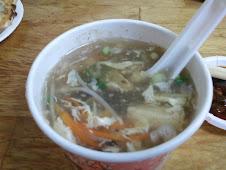 天母阿財鍋貼的酸辣湯