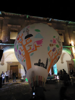 Globos de Cantoya de Paracho presentes en la Feria de Turismo Cultural en Morelia