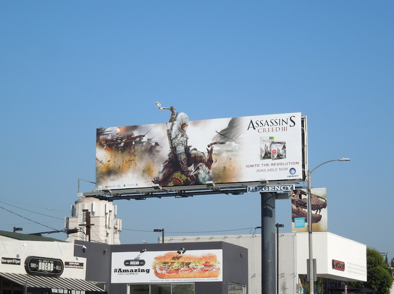 Assassins Creed 3 game billboard
