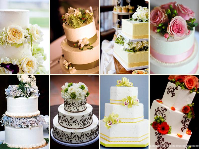 7 kwiatow: Tort weselny z zywymi kwiatami!