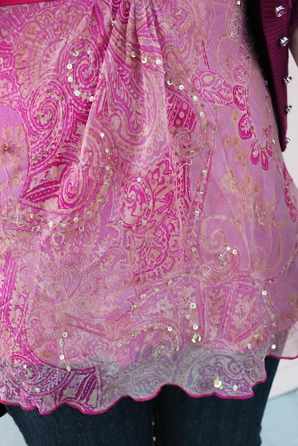 Pink Diane Von Furstenberg Gold Sequin Top