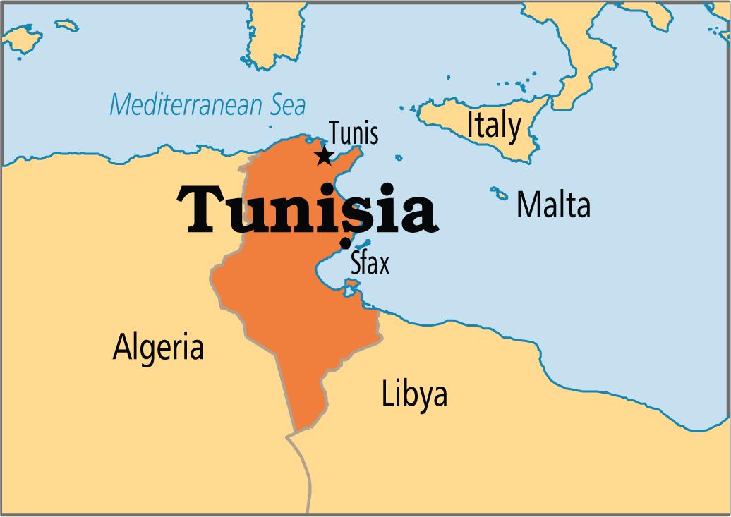 Tunesien Karte Gemeinden