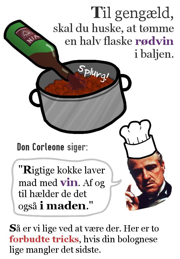 Så du vil lave spaghetti med kødsovs