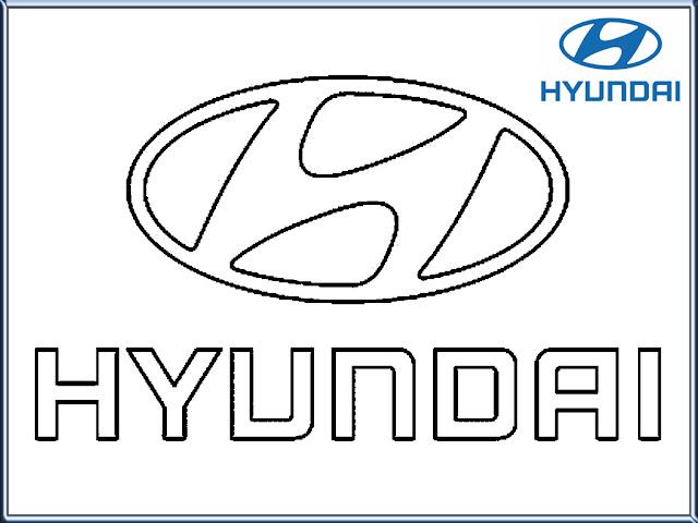 Hyundai Logo Coloring Pages Printable