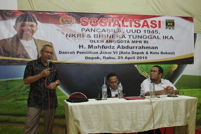 Mahfudz Abdurahman Sosialisasikan Empat Pilar