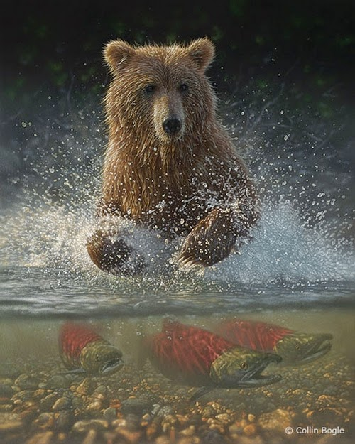 17-Grizzly-Bear-Collin-Bogle-Animal-Wildlife-in-Art-www-designstack-co