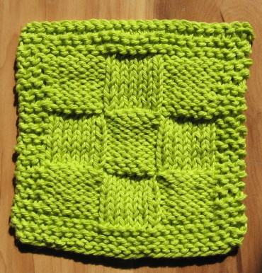 Simple Knits Easy Nine Patch Dishcloth To Knit Free Pattern