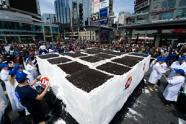World's largest ice cream cake photo, World's largest ice cream cake picture, World's largest ice cream cake 2011, World's largest ice cream cake Guinness World Record, Dairy Queen largest ice cream cake, 2011 Dairy Queen largest ice cream cake