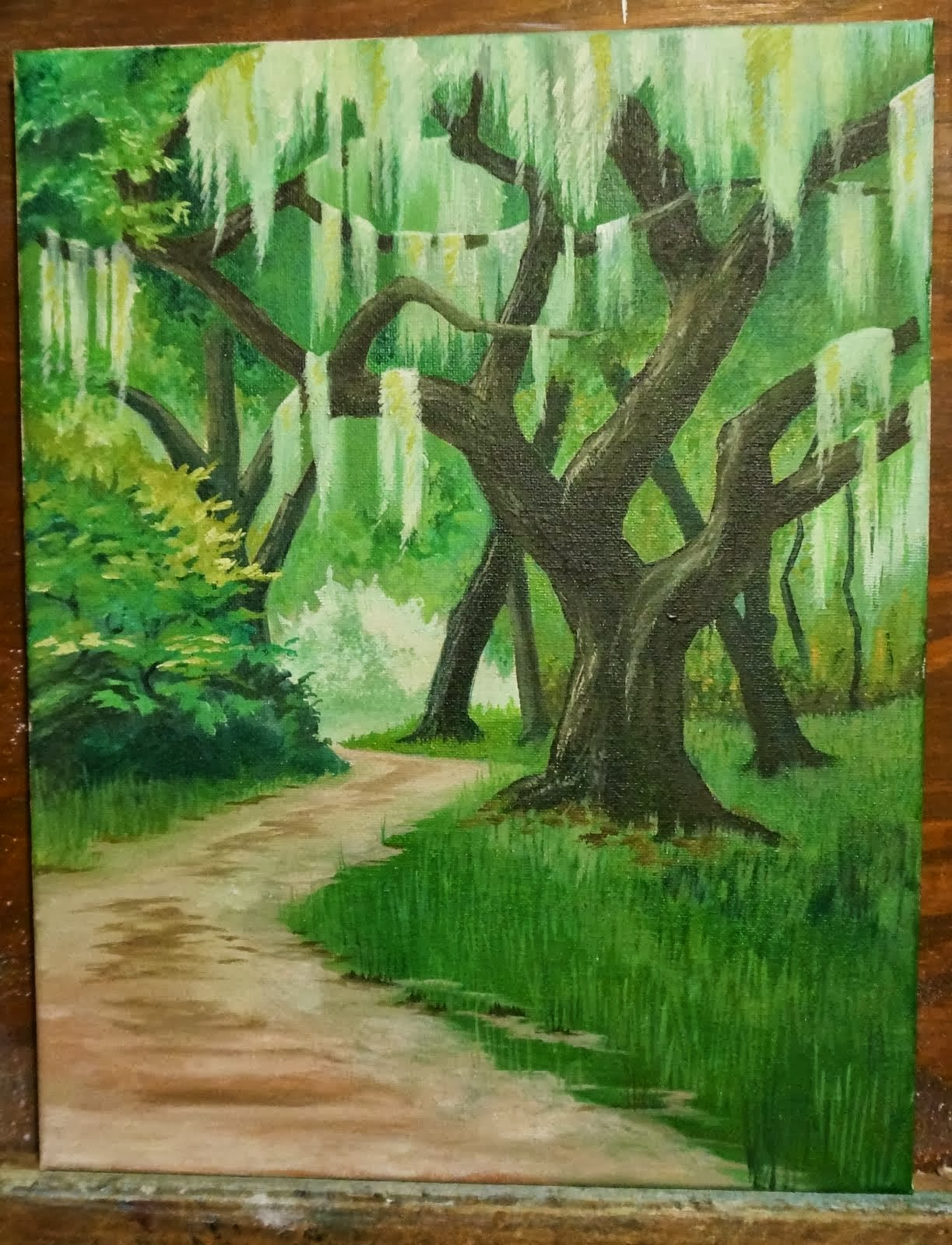 Oil on Canvas/Live Oaks Jekyll Island, GA