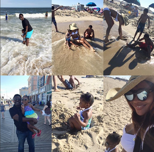 Ex-beauty queen, Anita Iseghohi shows off bikini bod as she holidays with her family  2