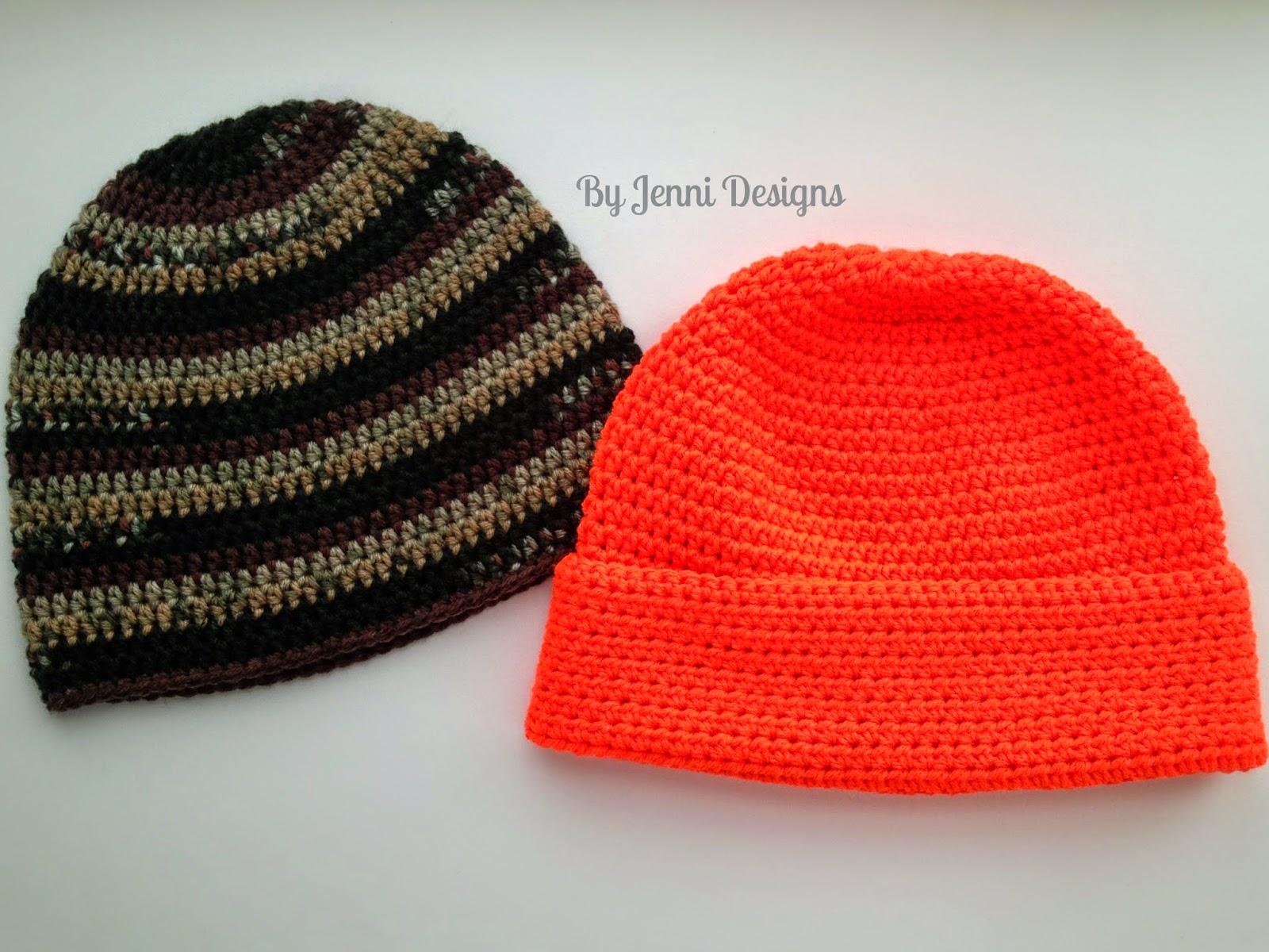 Free Crochet Pattern Hdc Beanie : By Jenni Designs: Free Crochet Pattern: Mens Basic Beanie ...