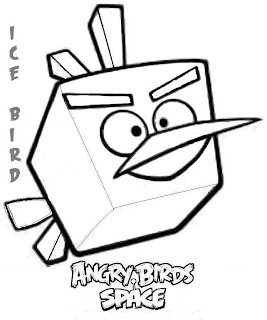 angry birds space - ice bird