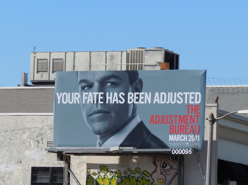 Matt Damon Adjustment Bureau billboard