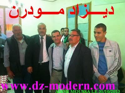 BENDJAAFAR Lakhdar، LAGRAA M'hammed (P.APC)، KHATIR Mohammed (Sénateur) و(KADDOUR AISSA Slimane (APW