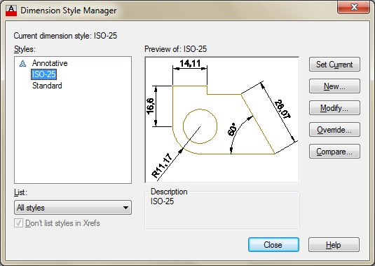 how to show dimensions in autocad 2013