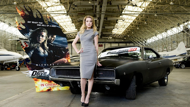 HD Wallpaper Amber Heard en Drive Angry