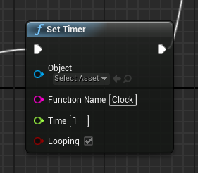 Romero blueprints gamehud timer and custom event this timer will continuously call a custom event named clock every second malvernweather Image collections