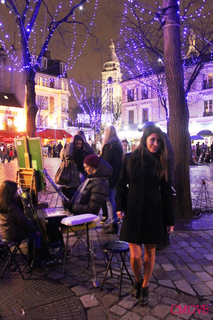 diana dazzling, fashion blogger, fashion blog,  cmgvb, como me gusta vivir bien, dazzling, luxury, Christmas, Paris, navidad, Noel, Montmartre, Place du Tertre