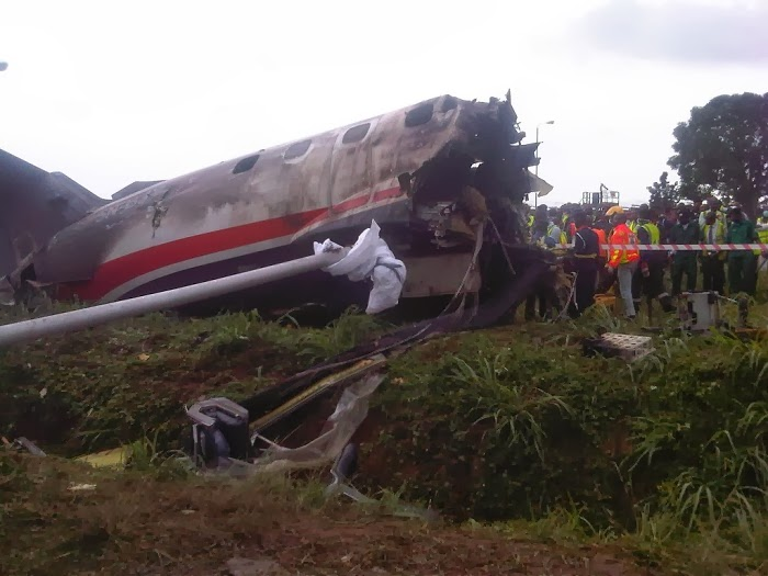Photonews: Remains Of The Associated Airline Plane That Crashed In Lagos (LOOK)