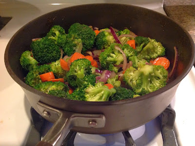 Broccoli, Carrot, and Onion Stir-fry