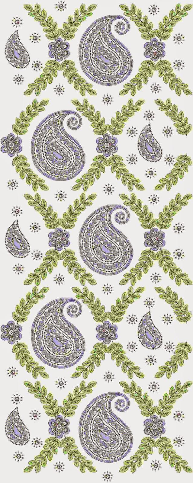 Nuwe Pakistani Applique borduurwerk